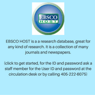 EBSCO HOST is a a research database, great for any kind of research. It is a collection of many jour