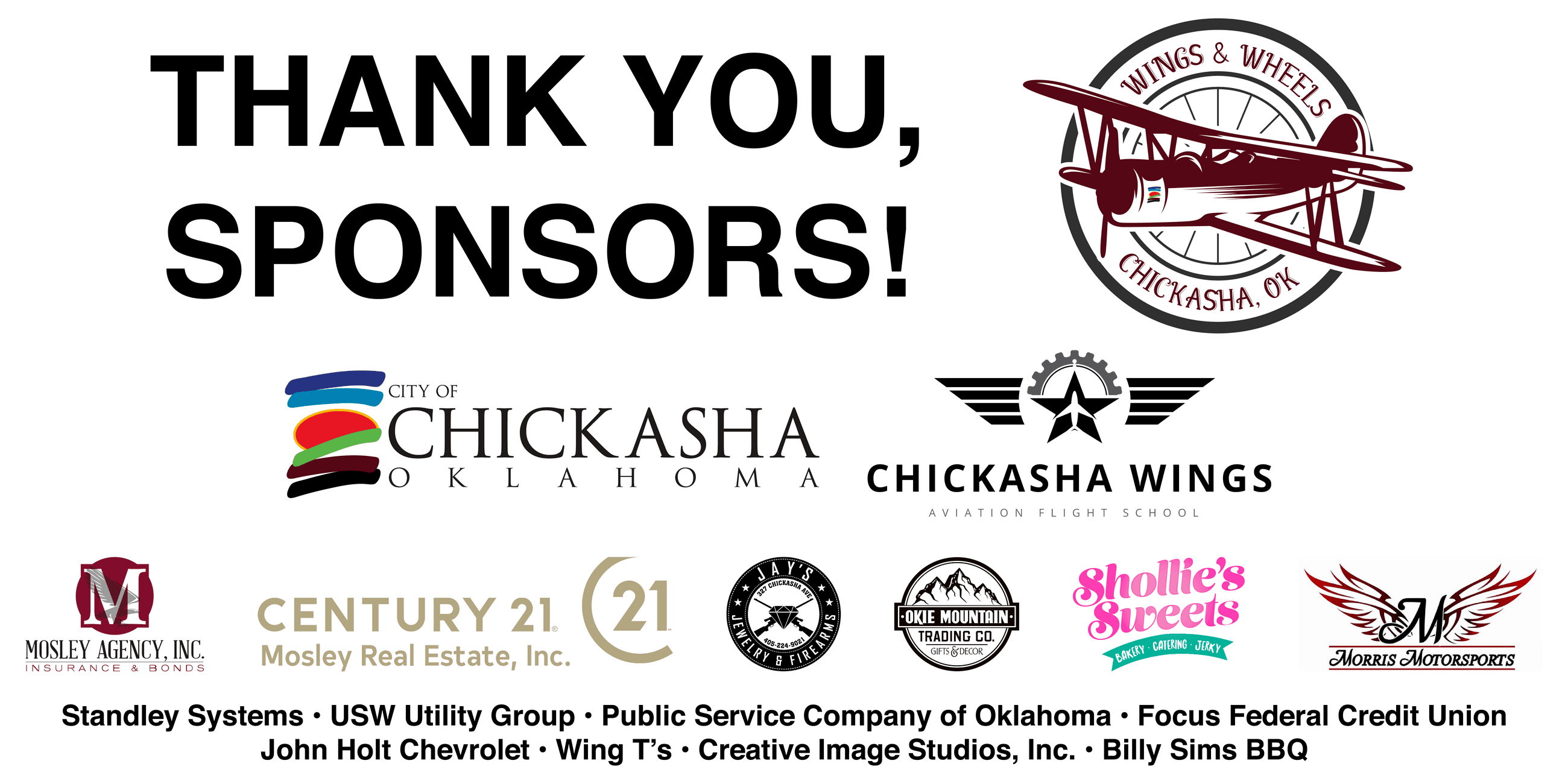 Wings & Wheels 2019 Sponsors