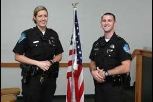 2 reserve officers posing for a picture
