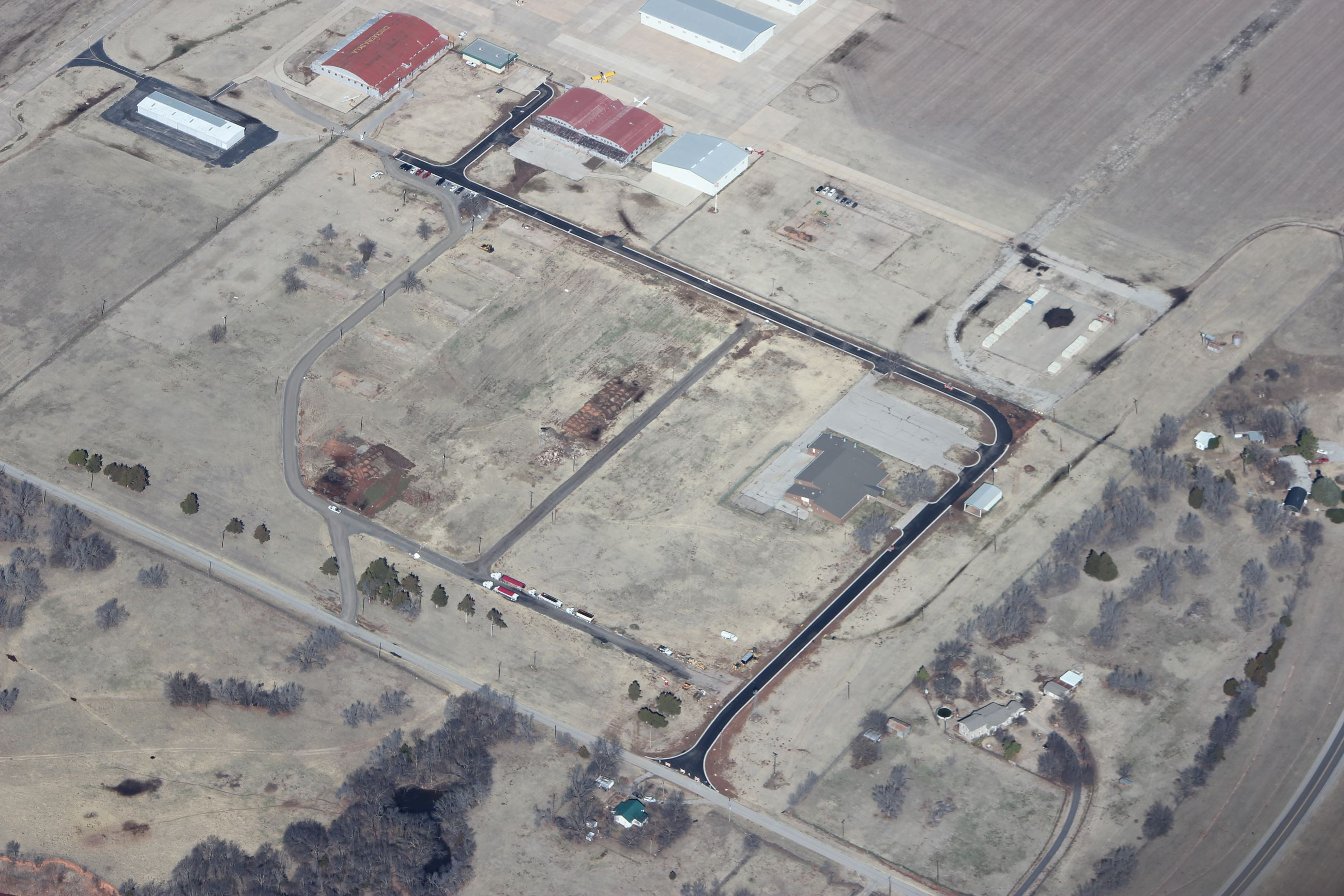 Road Project Aerial View